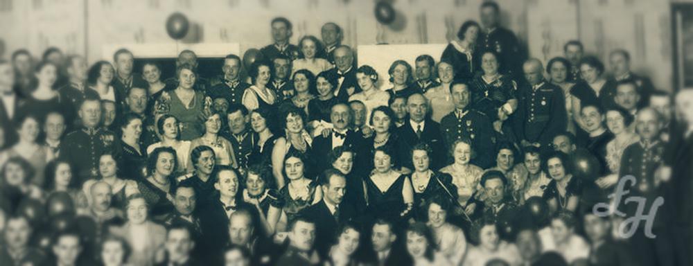 Fotografia przedstawia bal sylwestrowy 73 pułku piechoty.