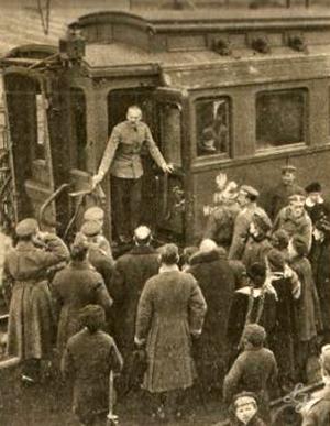 Marszałek Józef Piłsudski w Łukowie.