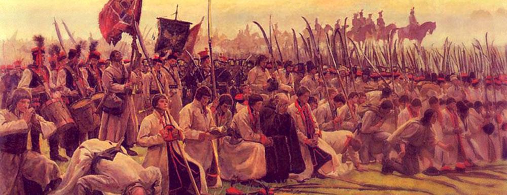 """Józef Chełmoński, """"Modlitwa przed bitwą"""""""