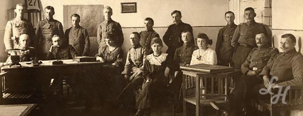 Personel posterunku Państwowej Policji Obwodu Łukowskiego w 1919 r.