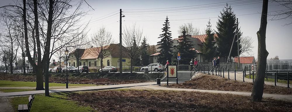 Ulica Warszawska - widok z wysokości parku miejskiego.