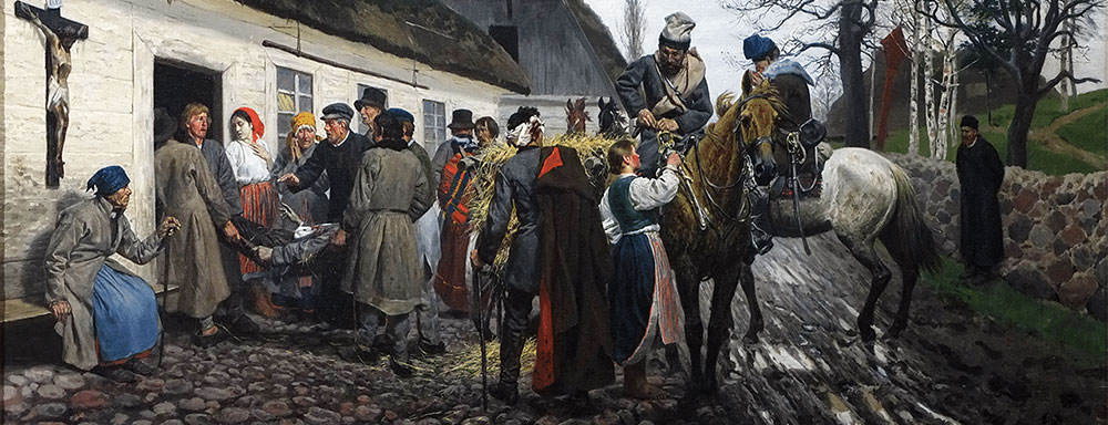 """Stanisław Witkiewicz - """"Ranny powstaniec"""" 1881 r."""