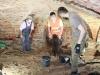 Prace archeologów w krypcie Kościoła pw. Podwyższenia Krzyża Świętego