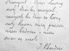 Pamiątkowy wpis marszałka pozostawiony w kancelarii Szkoły Powszechnej Nr 3