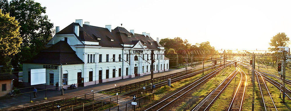 Dworzec kolejowy w Łukowie. (Fot. Dawid Wereszczyński)