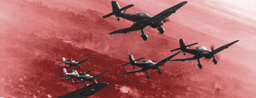 Bombardowanie Wielunia. Źródło: bundesarchiv.de
