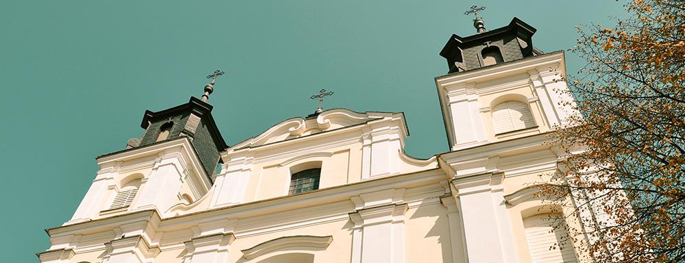 Popijarski kościół pw. Przemienienia Pańskiego w Łukowie.