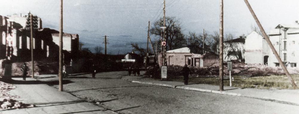 Jeszcze długo po wojnie, centrum Łukowa przypominało o tragedii lipca 1944 r.